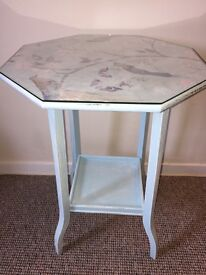 Shabby chic decoupage side table