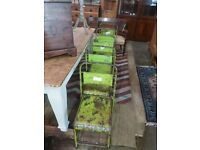 Industrial french metal stackable chairs