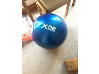 Medicine Ball and Pump. Like New Condition.