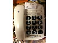 Large button corded home phone