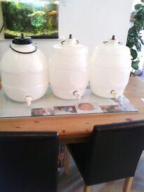 Plastic pressure barrels 5 gallons