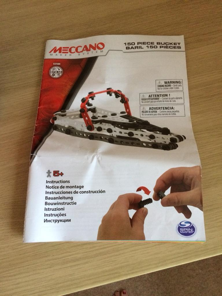 Meccano junior 150 piece set toy