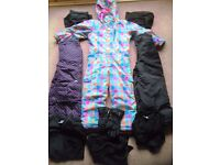 CHILDS SKI CLOTHING COLLECTION ALL VERY CLEAN HARDLY WORN