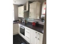 Kitchen For Sale - Cream Gloss - Hob & Oven Included