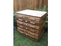 Architect / plan chest of drawers