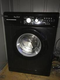 Beko 6kg black washing machine.