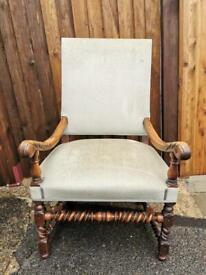 Beautiful Antique Barley Twist Arm Chair