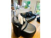 Ikea corner sofa and footstool