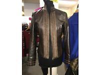 Brown leather Karen Millen Coat