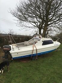 16ft cjr capri with trailer and engine
