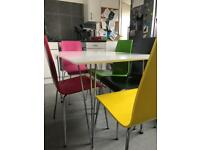"John Lewis White & Chrome dining table and 6 Chairs £100ono ""OFFERS WELCOME"""