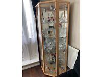 Home glass corner display cabinet