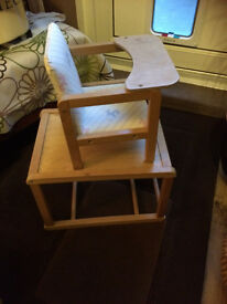 Doll's chair and table bit vintage but in good condition