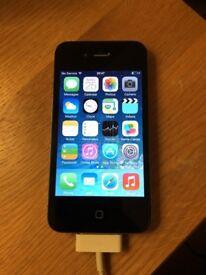 Apple iphone 4 black 8gb vodafone good condition
