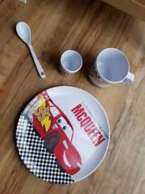 Kids Disney Cars Lightning McQueen 4pc Meal Set