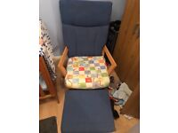 Dutailier rocking chair and foot stall.