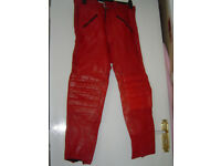 MotorBike Waddington leather trousers size M