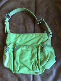 Francesco Biasia lime green handbag