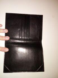 TED BAKER Leather Passport holder (black)
