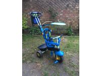 Adaptable 3 in 1 Kids trike in green and blue