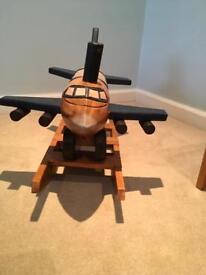 Solid wood aeroplane rocker (putney)