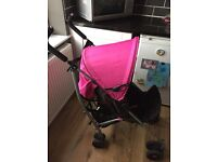 Mamas and papas pink pushchair/stroller