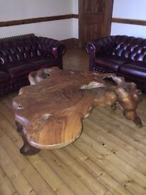 Hand Crafted Wooden Coffee table