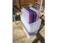 10 x 80 litre Plastic Storage Boxes with lids