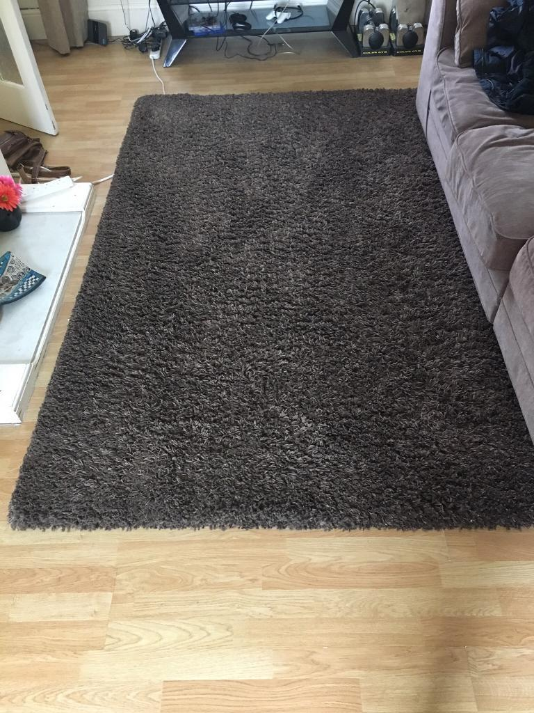 Large brown Dunelm rug