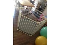 Babypark - hexagonal 120cm across - good condition