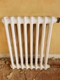 Retro original cast iron radiator.