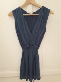 White Company blue grecian style sleeveless top. Size 12