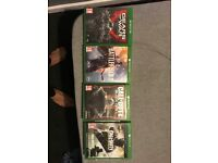 Xbox one perfect working condition 5 games and controller
