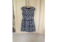 Girl's Grey and white Spotty dress from Next. BNWT. Age 11