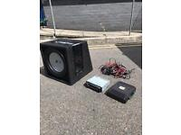 """12"""" SUBWOOFER 800W STEREO AMP WIRING"""