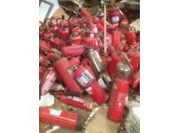 FIRE EXTINGUISHERS JOB LOT - ALL TYPES IN STORAGE AS NEW -100