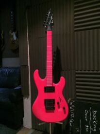 Dean Neon Pink Custom Electric Guitar
