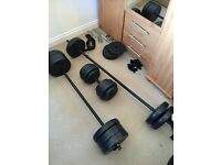 Weight set and bench (75kg)