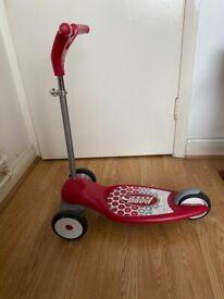 Red scooter children- radio flyer