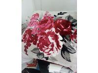 Laura Ashley tab top curtains and cushions