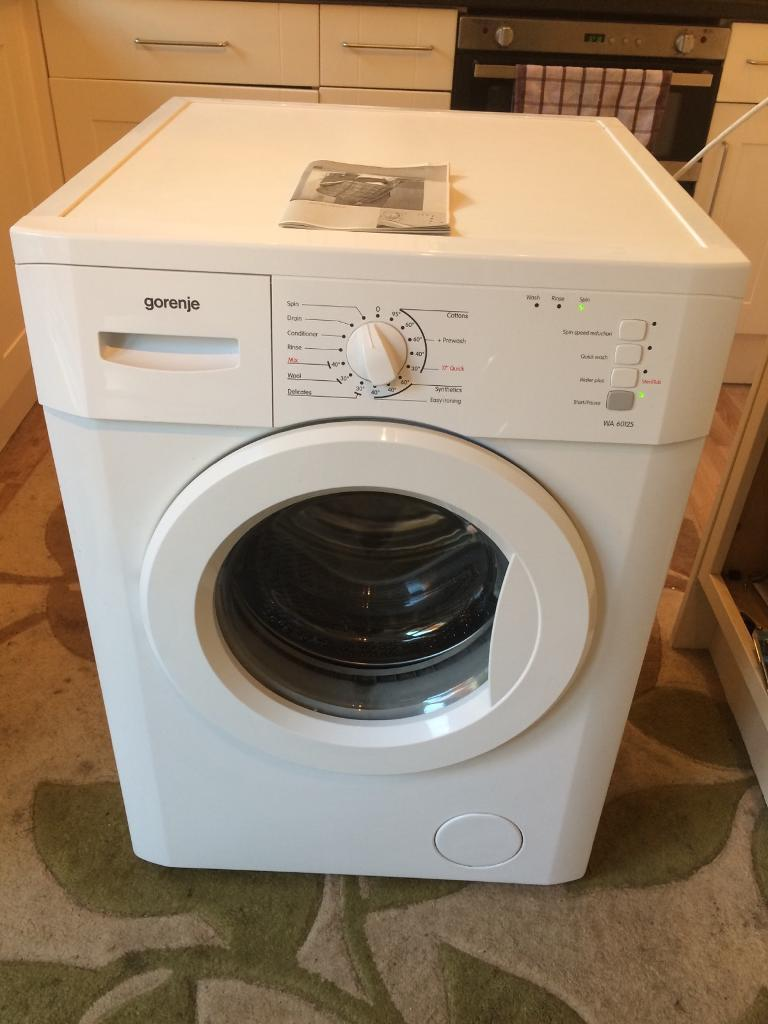 Gorenje 6kg 1200 Spin Washing Machine Good Full Working Condition Indesit Motor Wiring Diagram With Manual Instructions
