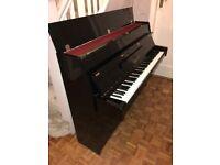 Yamaha B1 Upright Acoustic Piano with Classic Cantabile Stool (Polished Ebony)