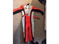 Kart Suit Size 52 - Red White Black - BOXS CIK-FIA 2001/103 with Gloves and Balaclava Red