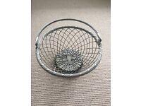 Contemporary Metal Fruit Basket.