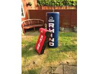 Rugby tackle tube and pad