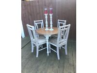 Renewed table and 4 chairs