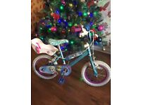 Girls 14 inch Friozen bike