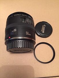 Canon EF 50mm F/2.5 Compact Macro Autofocus Lens With Hoya Filter