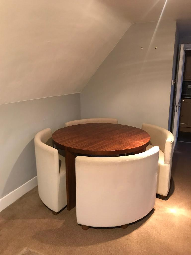 Round Dining Room Table With 4 Seats From Dwell