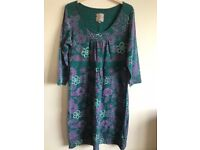 Green / purple Mantaray dress size 14